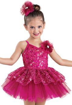 Weissman™ | Sequin Floral Mesh Tutu Dress