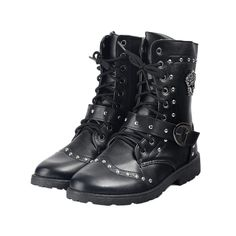 Shoes Leather Lace Up Rivet Decoration Leather And Lace, Leather Shoes, Combat Boots, Ankle Boots, Winter Shoes, Men's Shoes, Lace Up, Free Shipping, Decoration