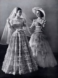 Madeleine Vramant & Carven wedding dress,  1946. This was a discreet dress but stil sexy. I think the woman wearing was very happy.  (24.10.13)