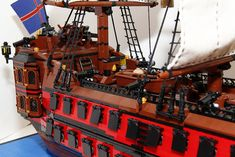 Lego Pirate Ship, Lego Ship, Pirate Ships, Legos, Lego Boat, Amazing Lego Creations, Flying Dutchman, Pirate Theme, Pirates Of The Caribbean