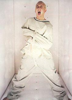 Eminem wearing straight jacket.Insane. | Stuff to buy. | Pinterest ...