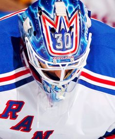 The top of Lundqvist's head. An angle of him that we don't see nearly often enough.