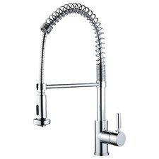 levi gooseneck kitchen faucet with pull spout