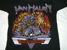 Vintage VAN HALEN 1981 FAIR WARNING TOUR T-Shirt 80s bootleg