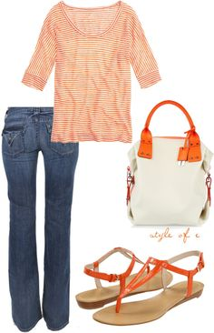 """""""Summer Orange"""" by styleofe on Polyvore"""