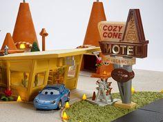 Mattel Disney Cars Precision Series Cozy Cone Sally Playset
