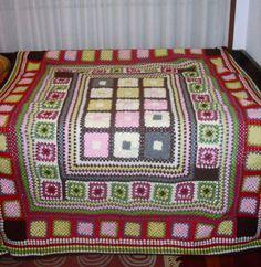 manta grannys de diferentes tamaños crochet