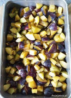 Ciasto kruche ze śliwkami, 1 Polish Recipes, Plum, Cake Recipes, Deserts, Food And Drink, Sweets, Fruit, Vegetables, Cook
