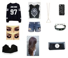 """Because Kpop"" by c-leegarza ❤ liked on Polyvore featuring Disney and Steve Madden"