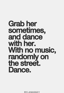 This reminded me of what you did last night @cjmartin85 I like a random dance sesh, just us, in our living room/kitchen.