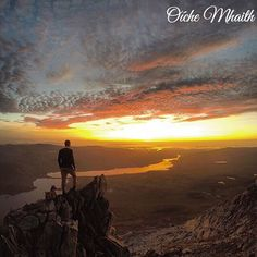 Good Night From Ireland  You wanted to see the view from the top of Mount Errigal? Well I think you'll agree that it was worth the wait! This was taken by @roulston696. He got not only the incredible view at sunset but also an incredible cloud formation!