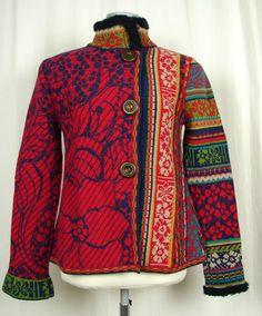 Ivko Multicoloured Knitted Jacket | eBay.           Geweldig!!!!
