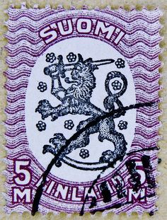 the most beautiful collectable stamp | beautiful stamp Suomi Finland 5 M postage poste timbre finlande selo ...