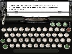 Transform your iPad into an old-fashion, low-tech, no-frills typewriter. Apps For Writers, Ios, Crazy Mom, Vintage Typewriters, Still Love You, Types Of Fashion Styles, Things To Think About, Writing, This Or That Questions