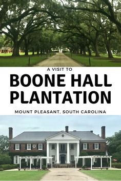 Boone Hall Plantation. Mount Pleasant, South Carolina. Filming location of the Notebook.