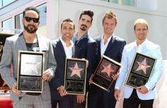 Backstreet Boys receive Hollywood star