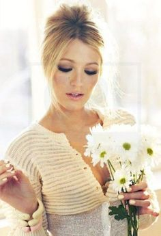 Blake Lively. Hair Style & Eye Makeup. Wedding Ceremony, PERFECTION! ^_~ <3
