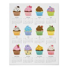 Cupcake 2014 Calendar Poster