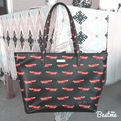 """kate spade fox small harmony tote 😍 kate spade fox small harmony tote 😍 This item is in excellent used condition with tags and dustbag. Bag has been kept in dustbag since being owned. Inside has no marks or stains. This is from the blaze a trail collection and was only available at Nordstrom and Bloomingdales. Price is firm! Measurements are: 17""""L (across top), 12""""L (across bottom) x 10.25"""" H, x 6.25""""D. I will not entertain low ball offers, trades or PayPal! 🚫 kate spade Bags Totes"""