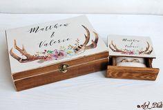 Floral Wedding, Wedding Ring Box, Wedding Card Box, Personalized Wedding Gift, boho card box ring box ring holder ring bearer box Boho Decor by ArtDidi on Etsy Wedding Ring Box, Card Box Wedding, Personalised Box, Personalized Wedding Gifts, Ring Bearer Box, Jewelry Box, Unique Jewelry, Boho Decor, Floral Wedding