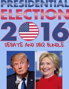 This bundle includes three products: Trump DBQs, Clinton DBQs, and Election Debate/research materials. Tons of activities to have your students thinking about the upcoming election.