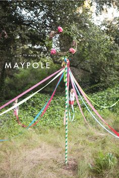 Maypole DIY - Oh Happy Day!  Who remembers doing this in school. I don't think they do this anymore.