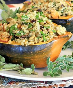 Acorn Squash Stuffed with Quinoa Pilaf 1 acorn squash 2 teaspoons olive oil, plus additional for drizzling on squash salt and fresh ground pepper to taste 1/2 cup uncooked quinoa,...