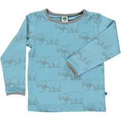 Smafolk Blue Bear Long Sleeved T-shirt