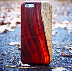 Cocobolo wood cell phone sleeve from the Live Edge Collection by Carved. Made in Indiana | USA carved.com allnewamerican.com