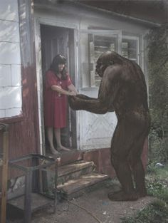 In the Bigfoot world, this story was BIG a few years ago.. Here goes the orginal email of Janice Carter to respected Bigfoot researcher Mary green: Click Website..