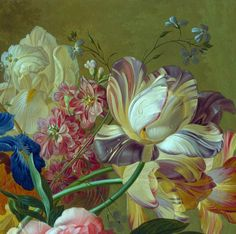 Paulus Theodorus van Brussel - Flowers in a Vase