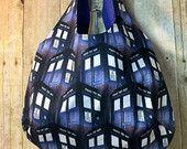 Hobo Tote Bag Doctor Who Tardis Handmade