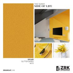 Yellow accents are all the rage this season. They brighten up spaces and give you a long lasting feature to work with. This sunflower yellow from our UV Lux Glitter series allows for you to create your unique interior. Collections Catalog, Laminated Mdf, Yellow Accents, High Gloss, Rage, Create Yourself, Glitter, Spaces, Unique