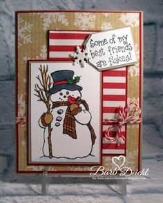 This is my card for January's Monthly Challenge for the Creative Card Chicks. Christmas Cards 2018, Homemade Christmas Cards, Xmas Cards, Handmade Christmas, Holiday Cards, Santa Cards Handmade, Gift Card Boxes, Snowman Cards, Winter Cards