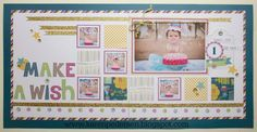 April Play Group Scrappin' Class Layouts - Confetti Wishes