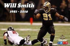 Former NFL defensive lineman Will Smith reportedly killed in.: Former NFL defensive lineman Will Smith reportedly killed in… Saints Players, Nfl Saints, New Orleans Saints Football, Best Football Team, Football Players, Will Smith Saints, Who Dat, Injury Report, News Around The World