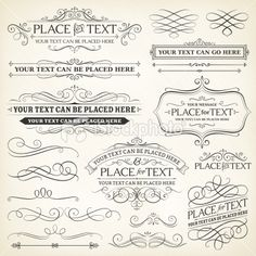 Vintage Frames and Scroll Elements Royalty Free Stock Vector Art Illustration