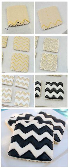 joysama images: How to Make Chevron Cookies
