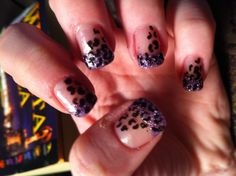 Leopard print french; loveee this!