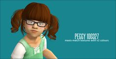 poppet-sims:  Peggy 100327 maxis-match textures with v2 colours all ages binned with grey linked to black >> Download   the hair is and old mesh so the texture of the fringe looks a little bit stretched.