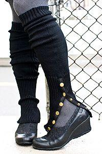boot like leg warmers