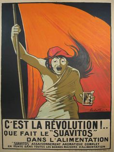 """C'est La Revolution """"Suavitos"""" / Maude Lemans /  45 x 61 in (114 x 155 cm) / Description:  It's Revolutionnary! ...  What """"Suavitos"""" can do with your food  """"Suavitos"""" complete herbed seasoning   For sale in all good spice stores"""