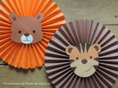 Fun animal faces as online class props. Jungle Theme Parties, Jungle Theme Birthday, Safari Theme Party, Safari Birthday Party, Jungle Party, Animal Birthday, Baby Party, Baby Birthday, First Birthday Parties