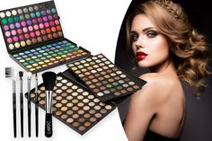 This 120-Colour Eyeshadow Palette & 5pc Brush Set is a ust have for beauty addicts!