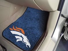 "NFL - Denver Broncos 2-piece Carpeted Car Mats 17""x27"""