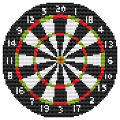 Cross Stitch Kit  Dart Board by FredSpools on Etsy, $12.00