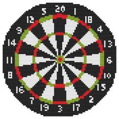 Cross Stitch Kit Dart Board by FredSpools on Etsy, $12.00