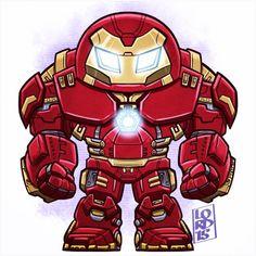 Age of Ultron: Chibi Hulkbuster Armor! Avengers Cartoon, Marvel Cartoons, Marvel Dc Comics, Marvel Heroes, Chibi Characters, Marvel Characters, Lord Mesa Art, Arte Assassins Creed, Chibi Marvel