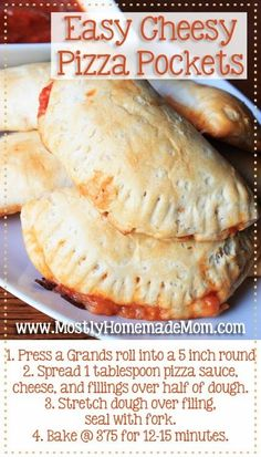 Easy Cheesy Pizza Pockets - why buy the frozen version when you can make them at home in minutes? by keigh