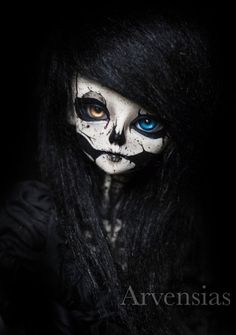 BJD Skull faceup by Arvensias on DeviantArt